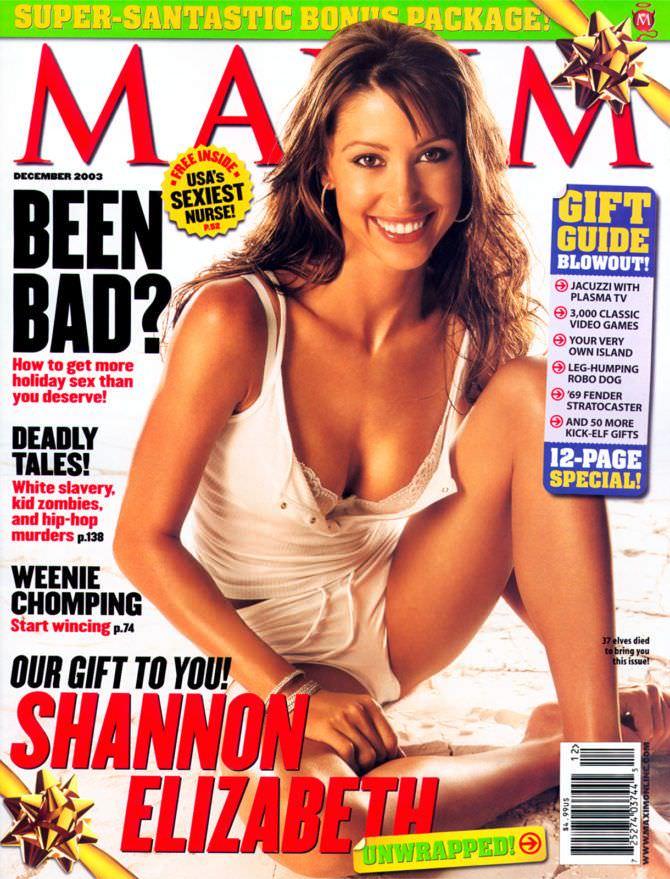 Шеннон Элизабет фотография обложки журнала 2003