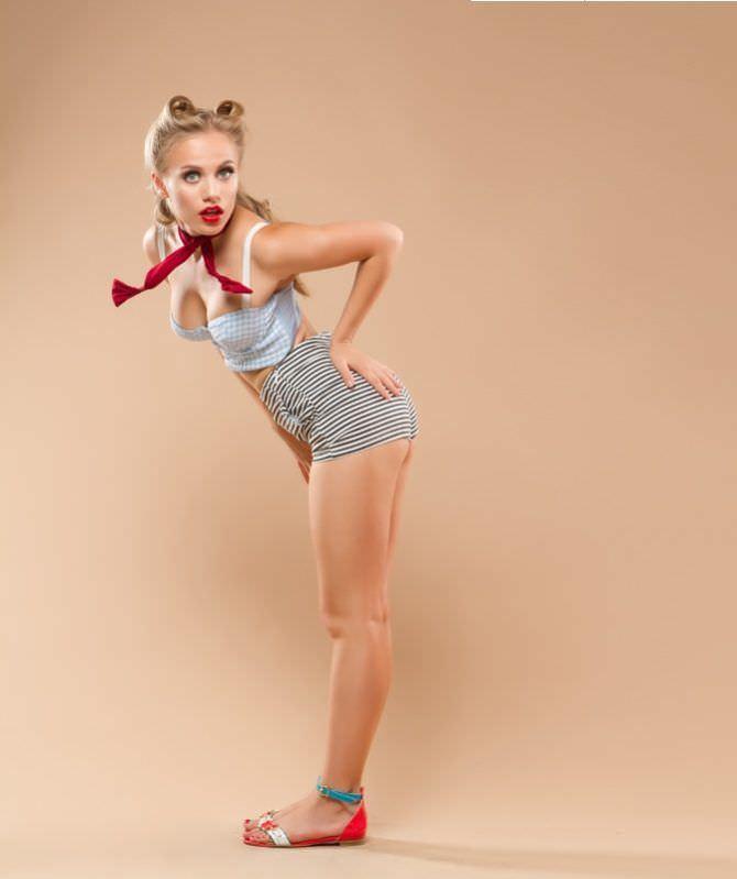 Виктория Клинкова фотосессия пин-ап для журнала