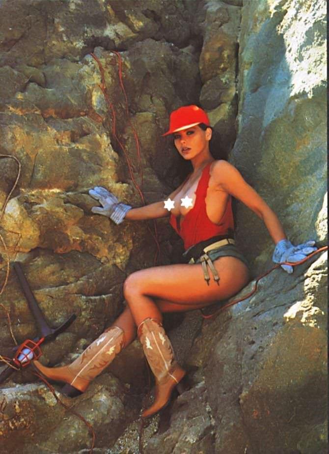 Орнелла Мути фотосессия в каменоломне