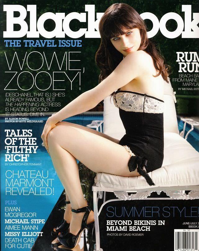 Зои Дешанель фото на обложке журнала BlackBook