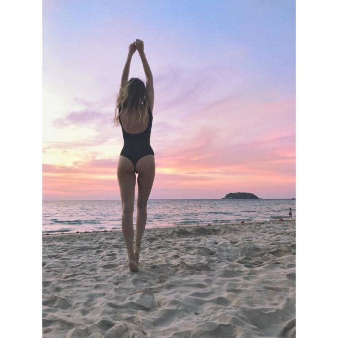 Ольга Веникова фото на пляже в инстаграм