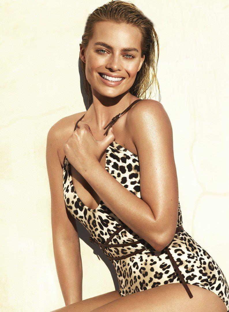 Марго Робби фото в леопардовом боди
