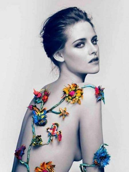 Кристен Стюарт фото с цветами