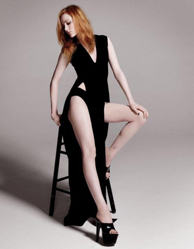 Эван Рэйчел Вуд фотосессия в чёрном платье