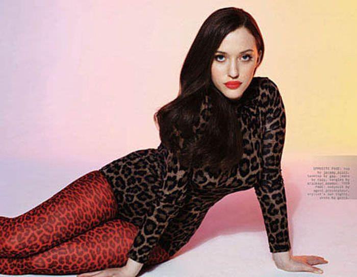 Кэт Деннингс фото в леопардовом боди