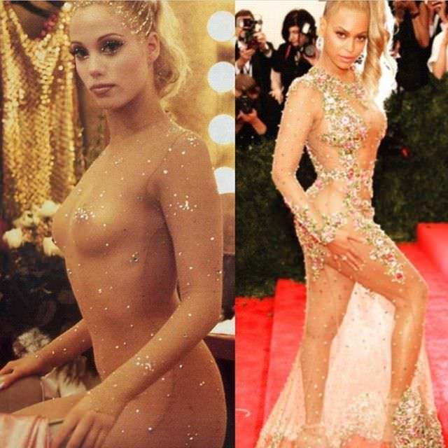 Элизабет Беркли Фотография в сравнении с Beyonce