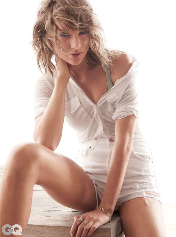 Тейлор Свифт фото в белой рубашке