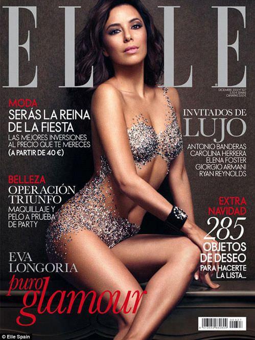 Ева Лонгория фото на обложке журнала Elle