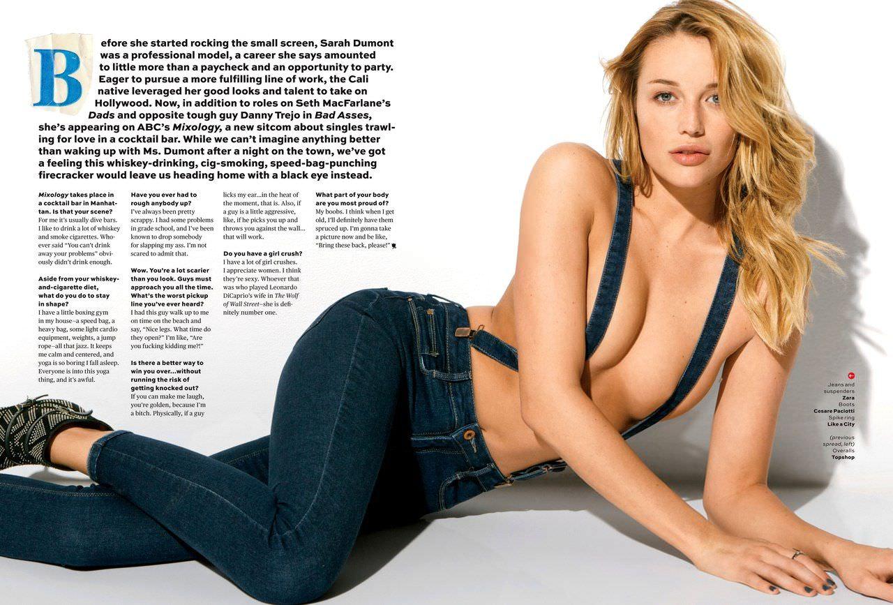Сара Дюмон фото в журнале Maxim