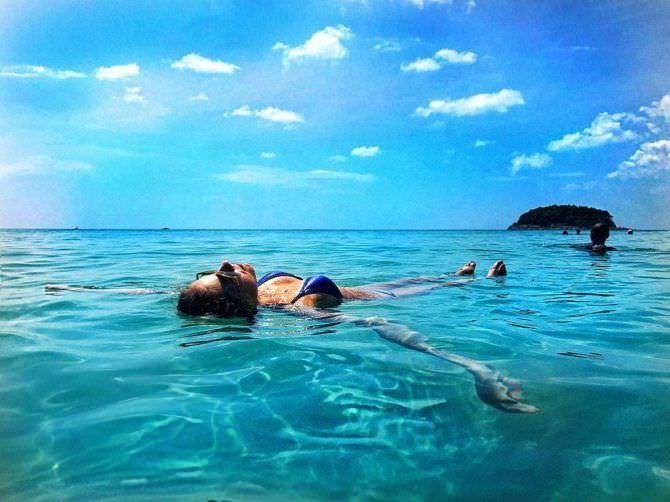 Ольга Веникова фотография в море в иснтаграм