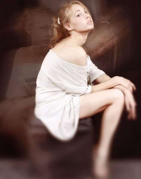 Татьяна Бабенкова фото на пуфе