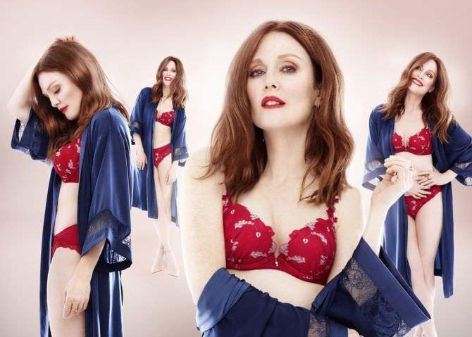 Джулианна Мур фотография для каталога бренда нижнего белья