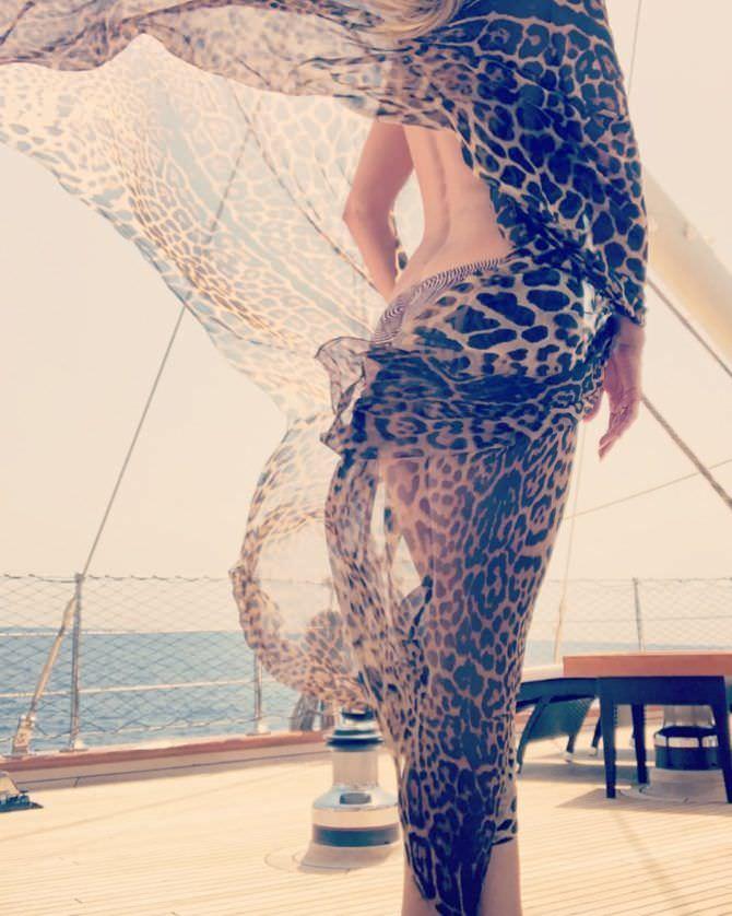 Хайди Клум фотография в леопардовом порео