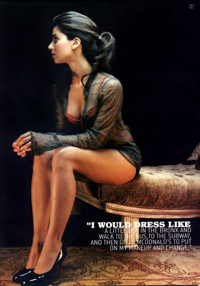 Розалин Санчес фотография для журнала 2008