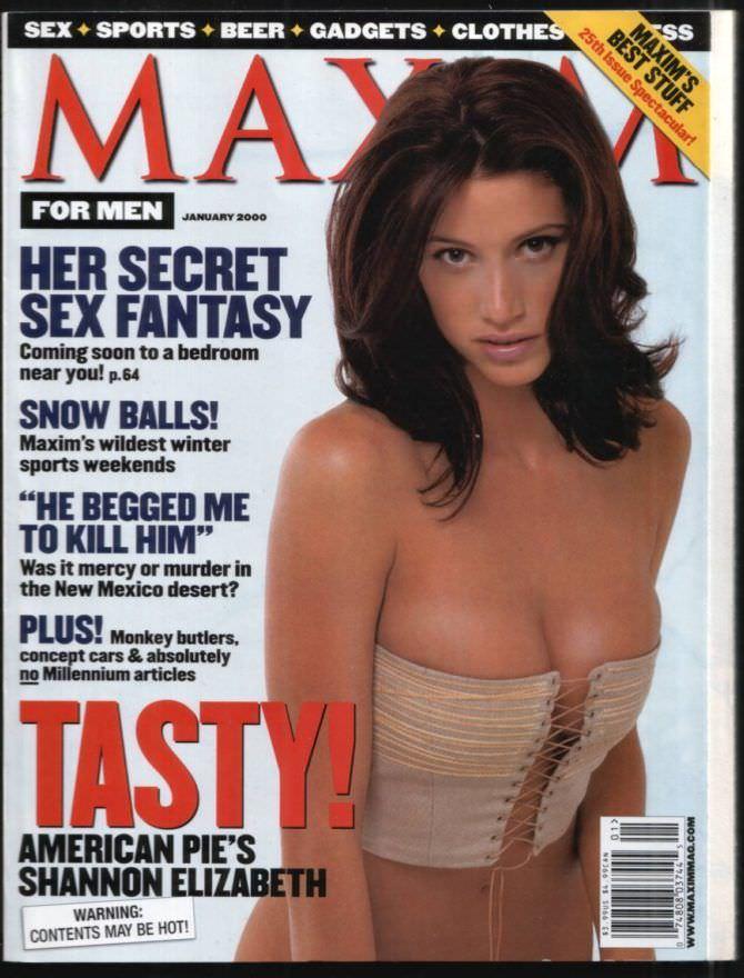 Шеннон Элизабет фотография обложки журнала 2000