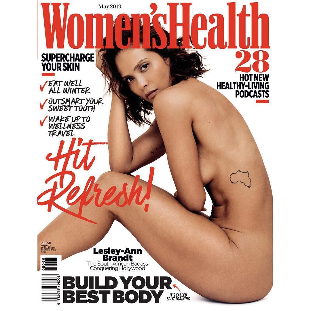 Лесли-Энн Брандт фото на обложке журнала Women`s Health