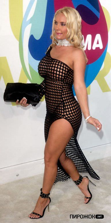 Николь Остин фото в прозрачном платье