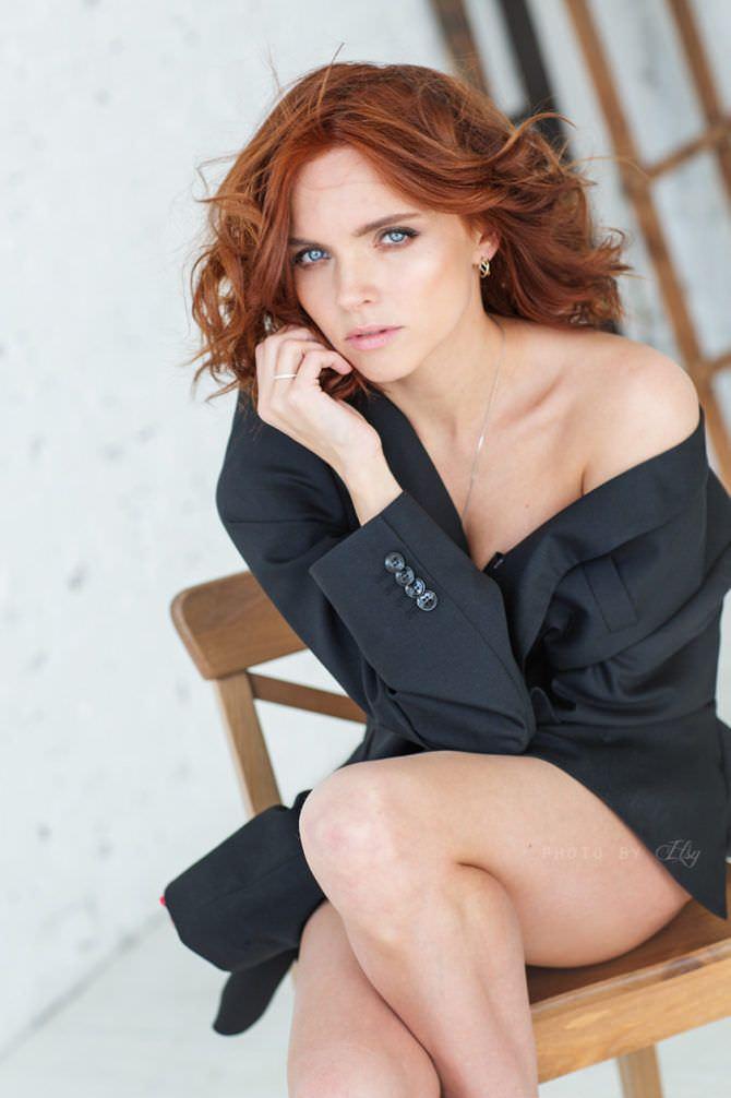 Наталья Земцова фотография в чёрной рубашке