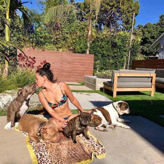 Натали Мартинес фотография с собаками