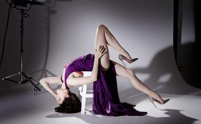 Маргарет Куэлли фотосессия в вечернем платье