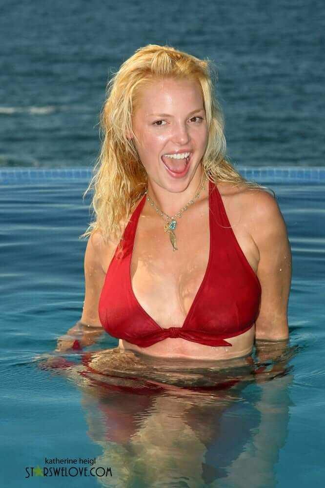 Кэтрин Хайгл фото в море