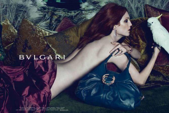 Джулианна Мур фотосессия для бренда сумок