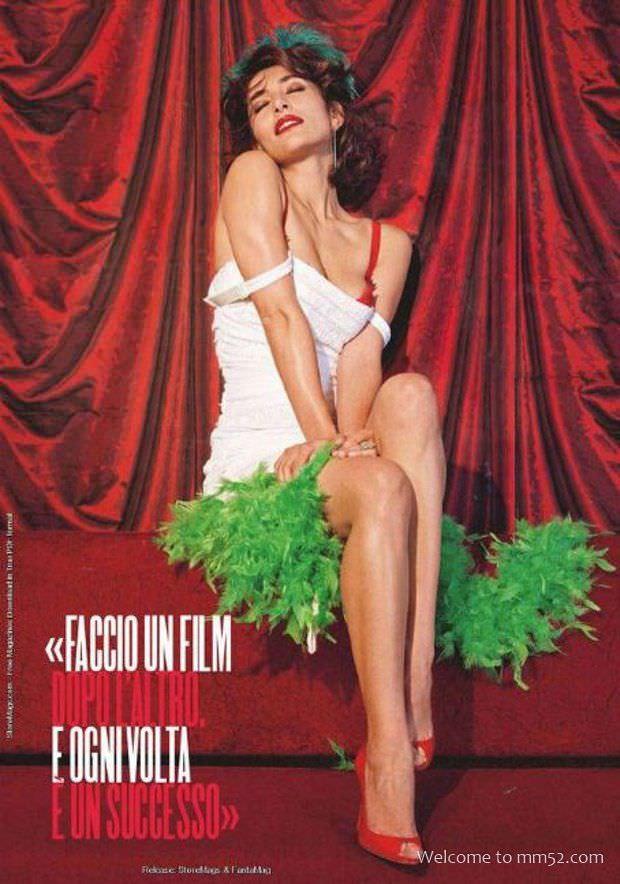 Катерина Мурино фото пин-ап в зелёном боа