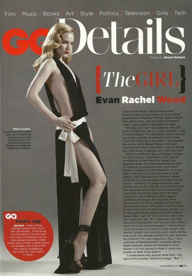 Эван Рэйчел Вуд фото в откровенном чёрном платье
