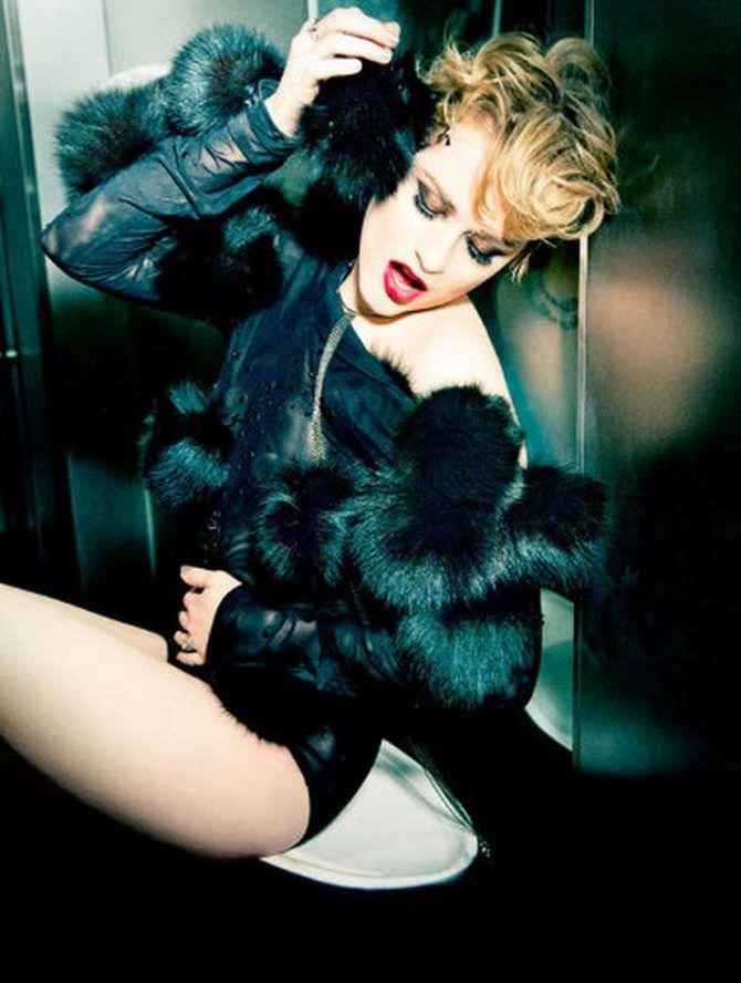 Эван Рэйчел Вуд фото в кофте с чёрным мехом