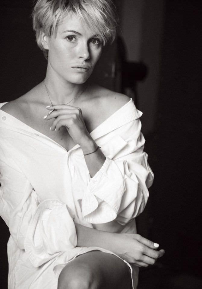 Виктория Маслова фото в белой рубашке
