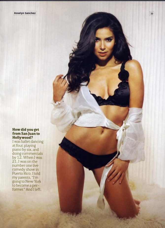Розалин Санчес фото из мужского журнала
