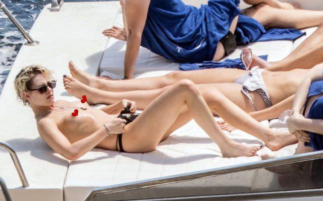 Кристен Стюарт фото на яхте
