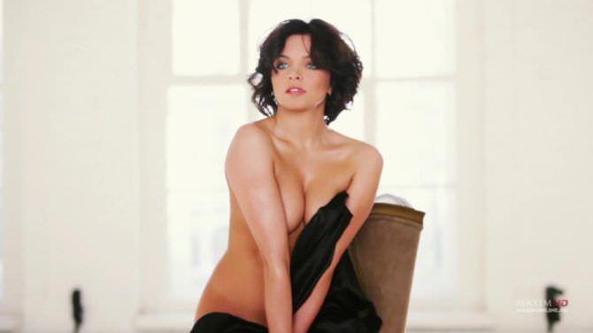 Наталья Земцова кадр с фотосессии в журнале