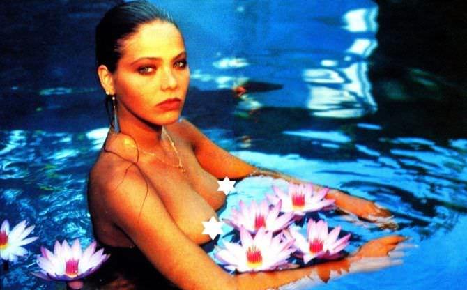 Орнелла Мути фотография с лилиями в журнале