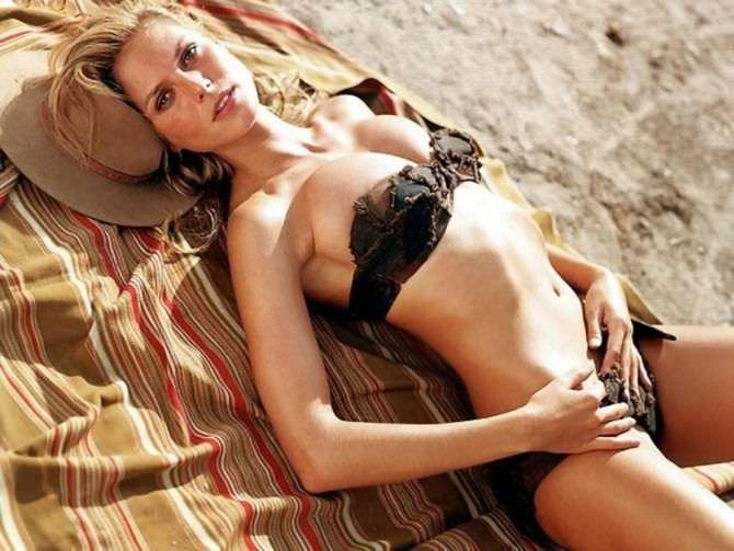 Хайди Клум фотосессия на пляже