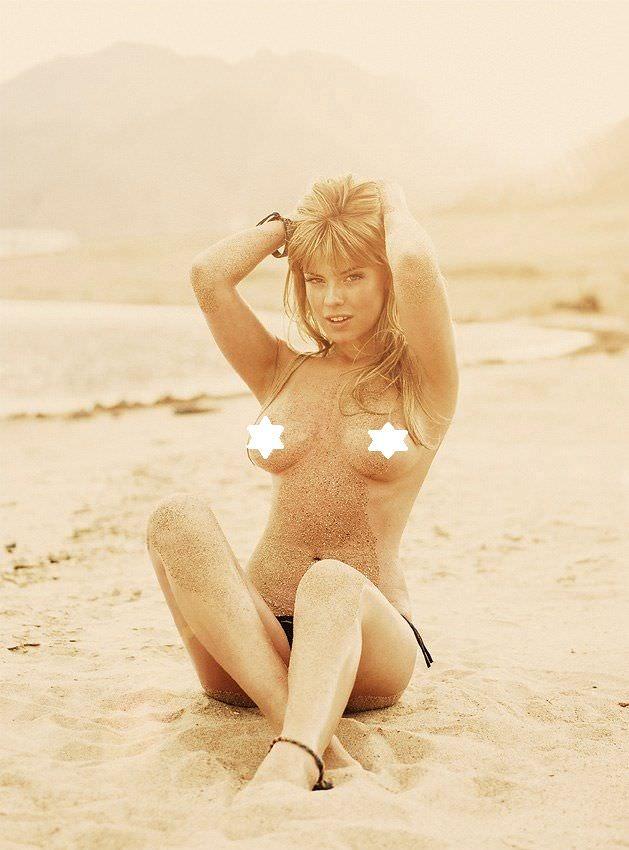 Анна Старшенбаум фото в плавках на песке 2009