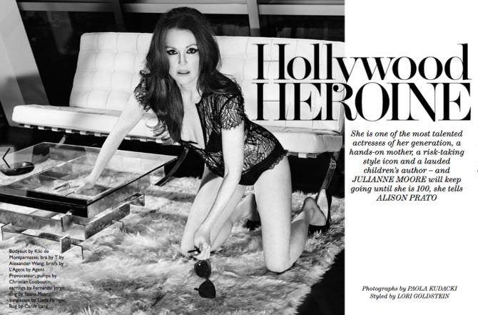 Джулианна Мур фото в белье для журнала