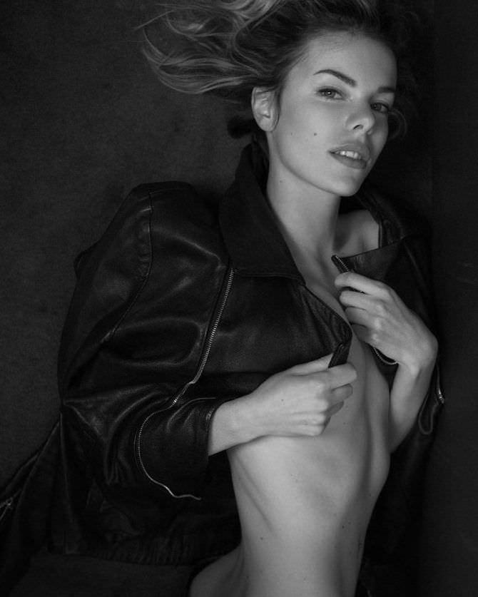 Анна Старшенбаум фотосессия в кожаной куртке