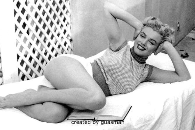 Мэрилин Монро фотосессия в коротких шортах