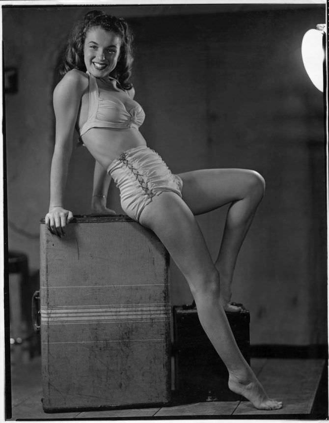 Мэрилин Монро фотография в нижнем белье