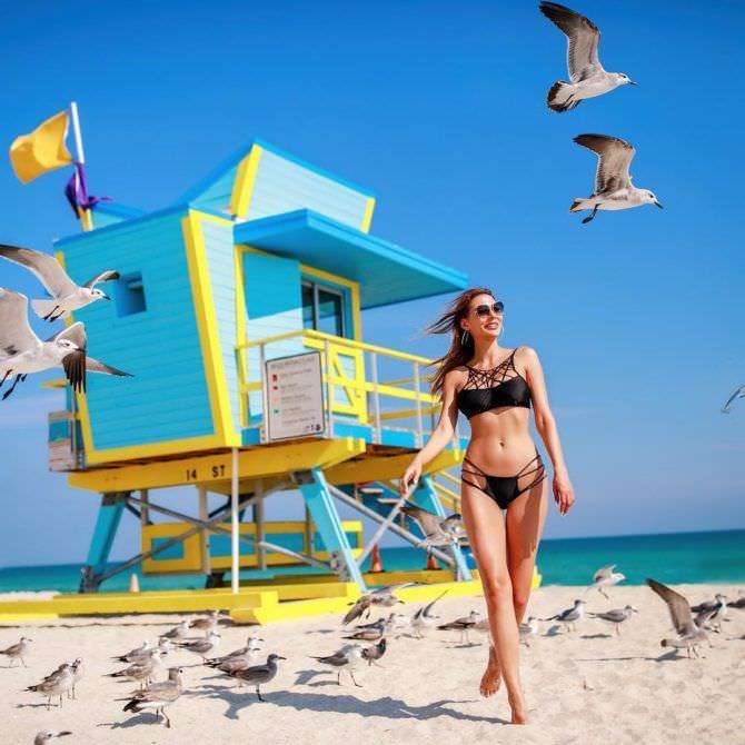 Ника Вайпер фото с чайками