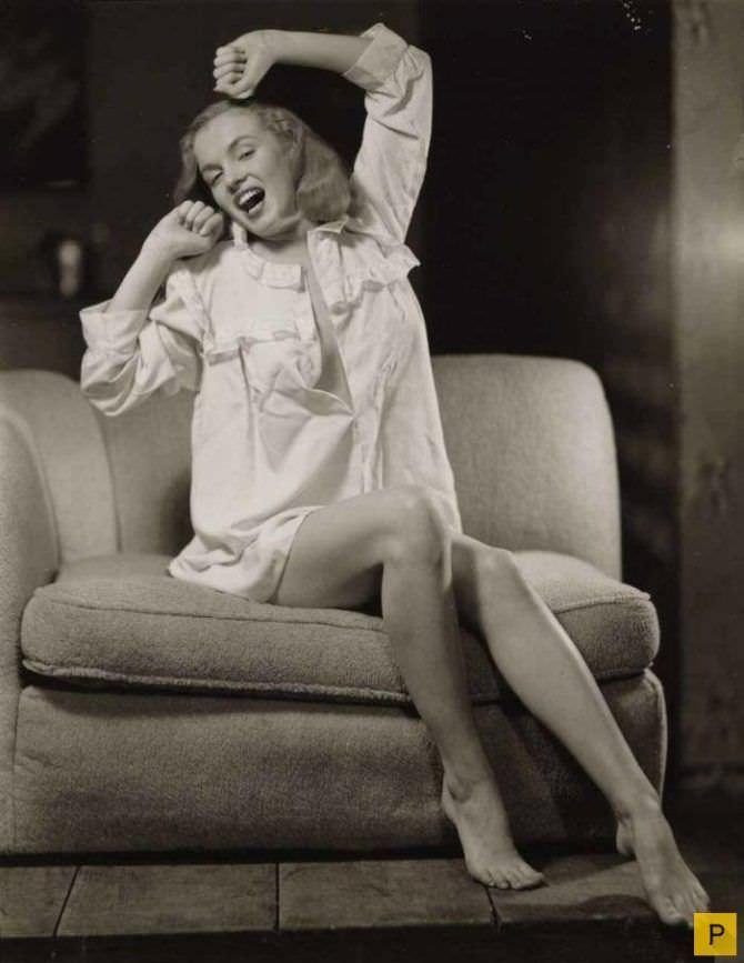 Мэрилин Монро фотография в мужской рубашке