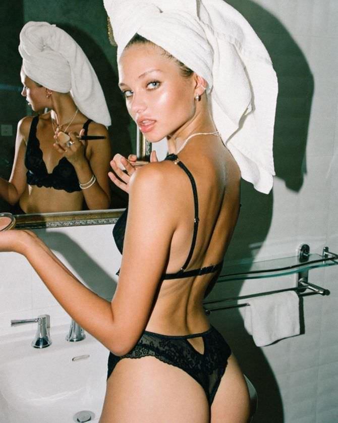 Алеся Кафельникова фото в чёрном нижнем белье