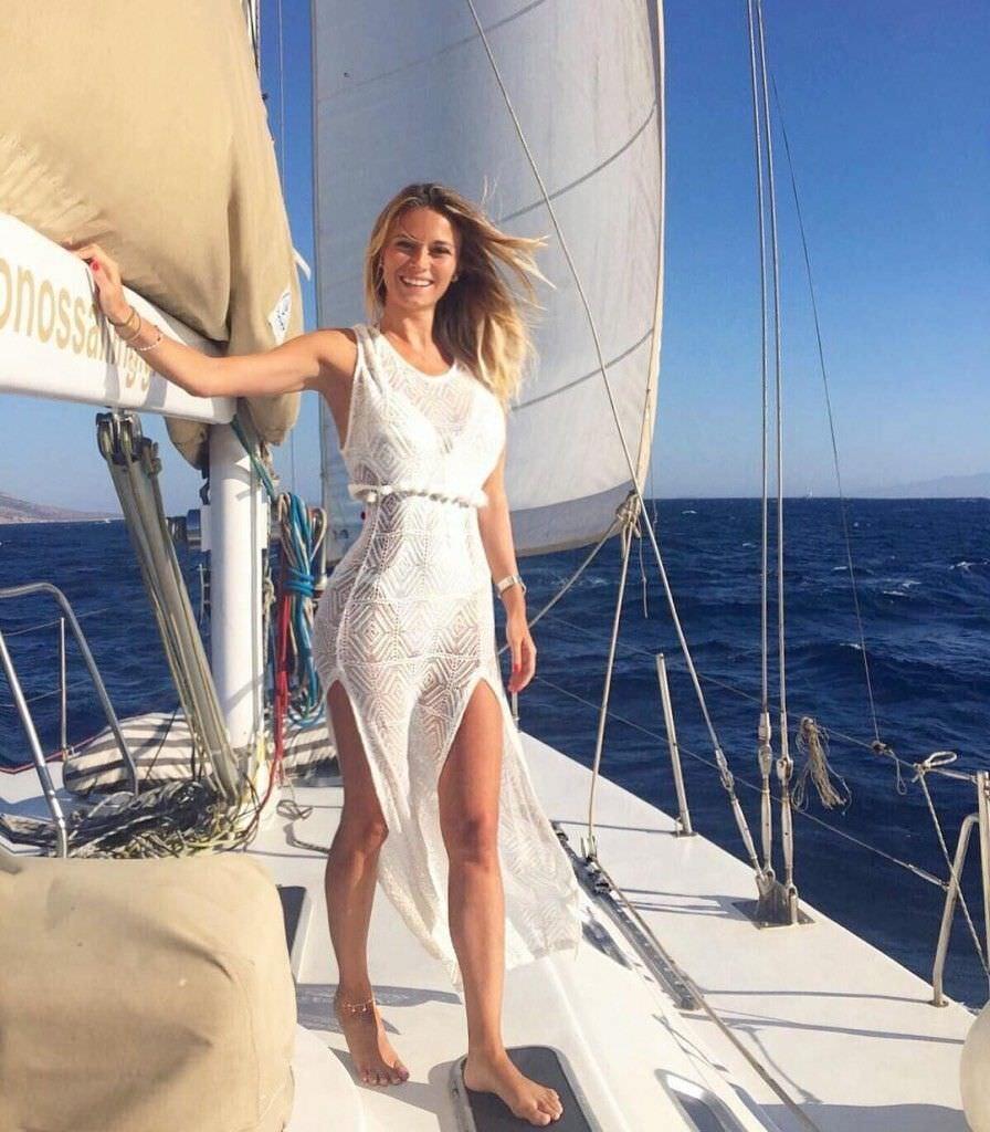 Дилетта Леоттаи фото на яхте