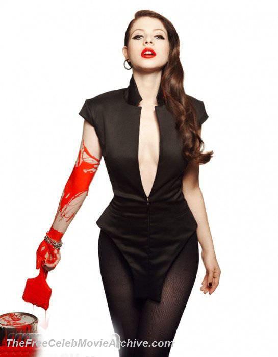 Мишель Трахтенберг фото с красной краской