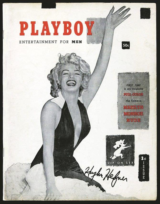Мэрилин Монро фото обложки первого выпуска плейбой