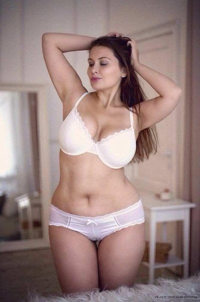 Светлана Каширова фотосессия в белом белье
