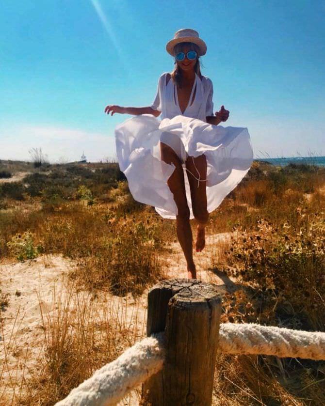 Алла Михеева фото в белом платье