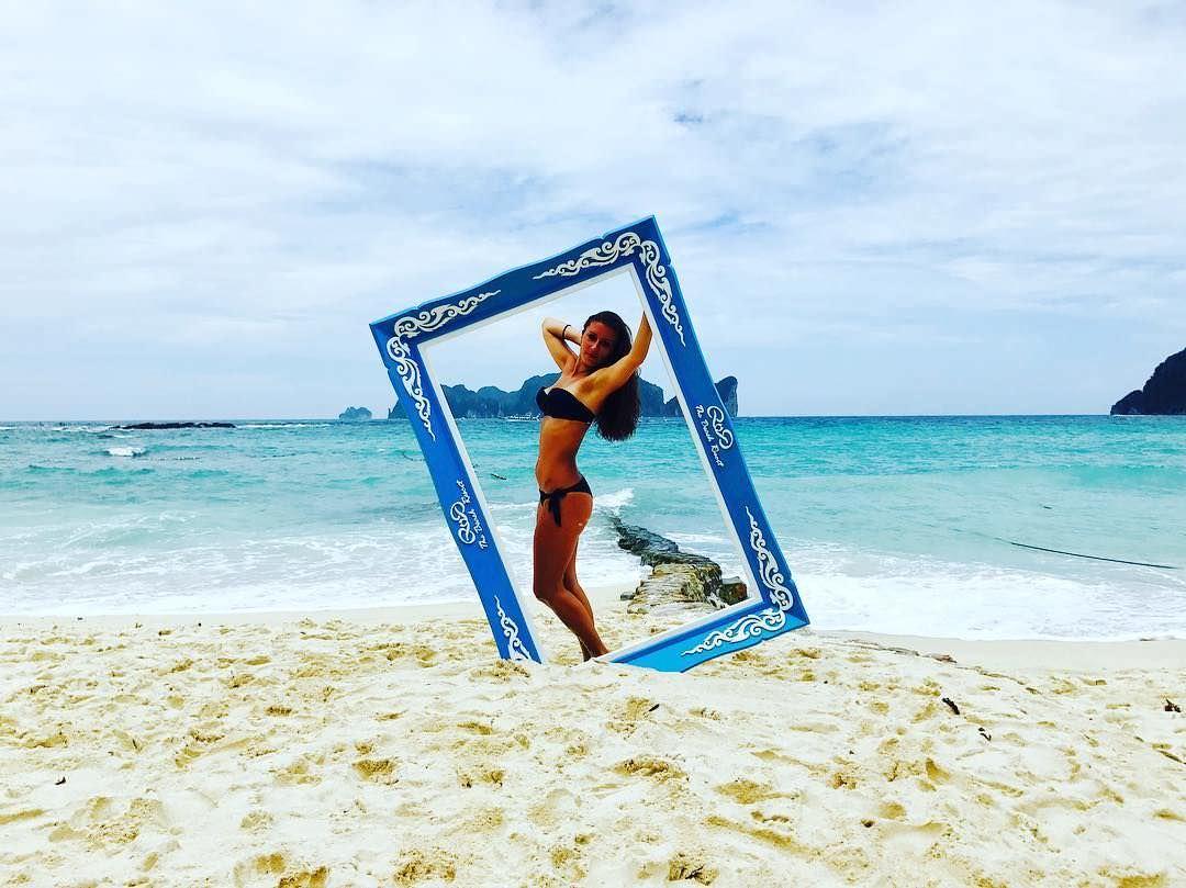 Ольга Подолян фото на песке