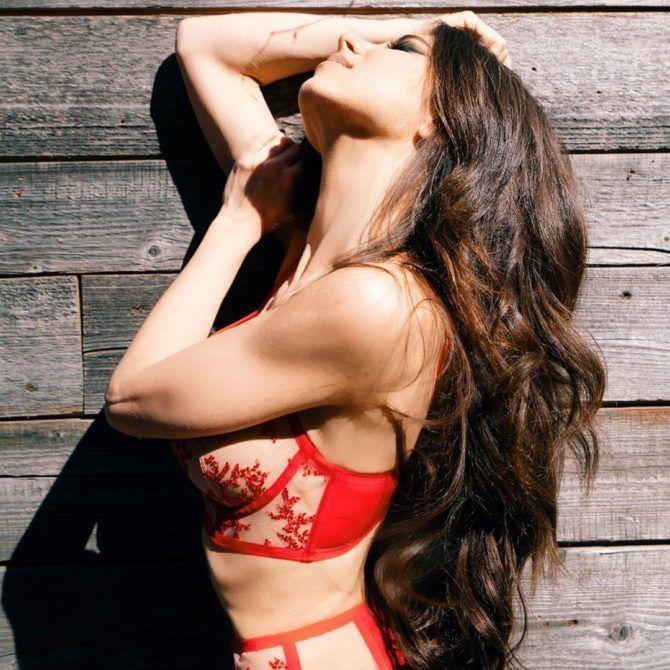 Анна Плетнёва фото в красном белье